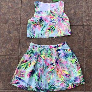 NWT Lilly Pulitzer Hilah Crop Top & Skirt Set 6